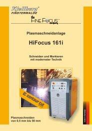 Prospekt HiFocus 161i - Kjellberg Finsterwalde
