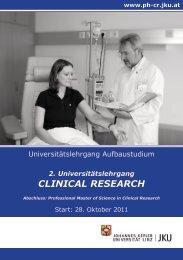 """Folder """"Aufbaustudium Clinical Research"""" - ABCSG"""