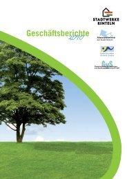Geschäftsbericht 2010 - Stadtwerke Rinteln