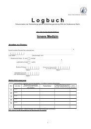 Logbuch FA Innere Medizin [PDF] - Ärztekammer Berlin