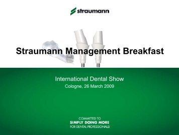 Straumann Management Breakfast - International Dental Show ...