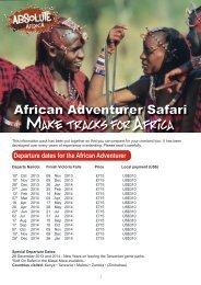 pre departure pack - Absolute Africa