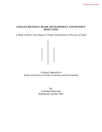 LINKAGE BETWEEN TRADE, DEVELOPMENT AND POVERTY ...