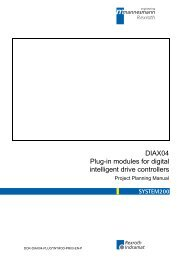 DIAX04 Plug-in modules for digital intelligent drive ... - Bosch Rexroth