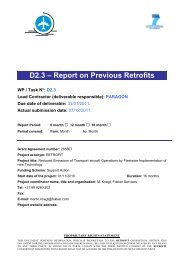 D2.3 – Report on Previous Retrofits - Fokker Services