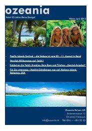 News Juni 2013 - Ozeania Reisen
