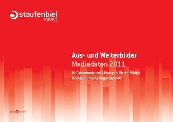 Aus- und Weiterbilder Mediadaten 2011 - Staufenbiel