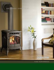 Gas stoves Direct vent - Hearth & Home Technologies