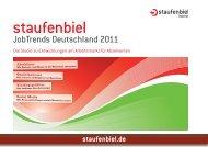 JobTrends Deutschland 2011 - Staufenbiel