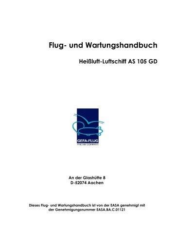 Flug- und Wartungshandbuch AS 105 GD – D - Gefa-Flug