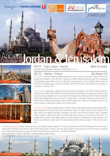 Jordan & Jerusalem
