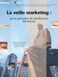 La veille marketing : - Institut de tourisme et d'hôtellerie du Québec