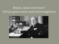 13h30 IHN Clinical Governance and Haemovigilance – EWood