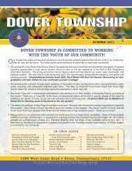 summer newsletter - Dover Township