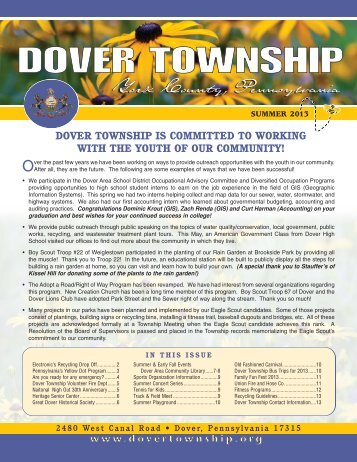 summer newsletter - Dover Township