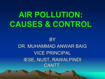 Ambient Air Quality of Major Cities of Pakistan