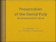 Preservation of the Dental Pulp - Tour Hosts Pty Limited
