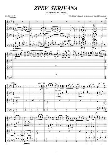 Gesang der Lerche.pdf - Walter Schwanzer Musikverlage