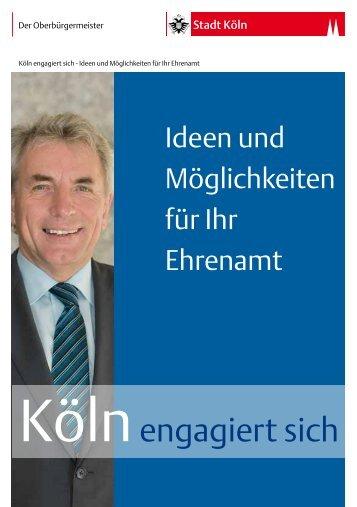 Köln engagiert sich - Ideen und Möglichkeiten für Ihr ... - Stadt Köln