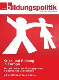Krise und Bildung in Europa - vpod-bildungspolitik