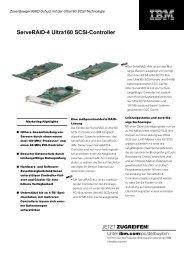 ServeRAID-4 Ultra160 SCSI-Controller - StarNet IT GmbH