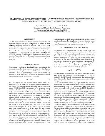 STATISTICAL ESTIMATION WITH 1/F-TYPE PRIOR MODELS ...