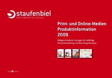 Print- und Online-Medien Produktinformation 2009  - Staufenbiel