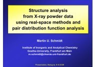 Structure analysis from X-ray powder data using real-space methods ...