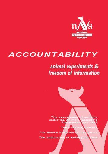 ACCOUNTABILITY animal experiments & freedom of ... - NAVS