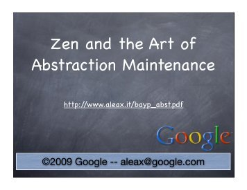 Zen and the Art of Abstraction Maintenance