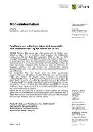 Medieninformation - Statistik - Freistaat Sachsen