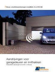 Download de brochure Garagedeur aandrijvingen ... - JaBro Deuren