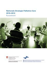 Nationale Strategie Palliative Care 2010–2012 Kurzversion