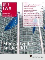 TAX - Institut für Finanzrecht, Steuerrecht und Steuerpolitik - JKU