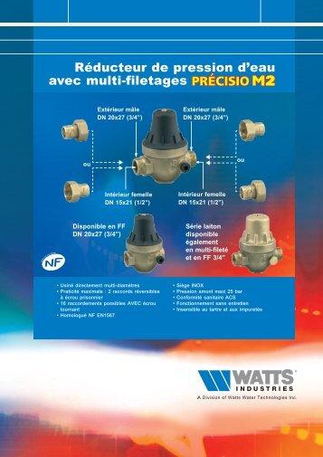 Réducteur de pression d'eau avec multi-filetages - Watts Industries