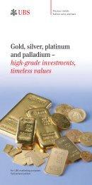 Gold, silver, platinum and palladium – high-grade investments ...