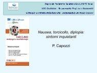 Nausea, torcicollo, diplopia: sintomi inquietanti - P. Capozzi