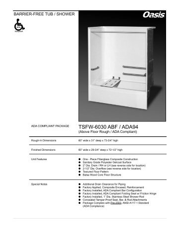 TSFW-6030 ABF / ADA94 - Oasis Bath