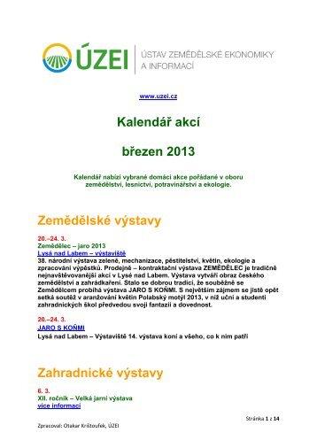 Kalendář akcí - březen 2013 - Informační centrum bezpečnosti ...