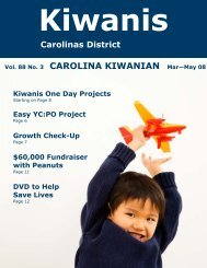 Vol. 88 No. 3 CAROLINA KIWANIAN Mar—May 08 - Carolinas ...