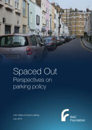 Spaced Out: Perspectives on Parking Policy - RAC Foundation