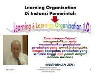 Pembelajaran (Learning) & Organisasi Pembelajaran (Learning ...