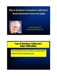 Why A Solutions To Southern California's Goods Movement Issues ...