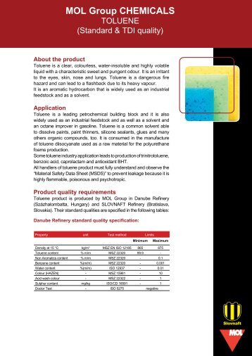 Data sheet - Toluene (pdf, 205 kB) - Mol