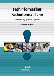Rahmenplan für Fachinformatiker FR Systemintegration - TCP/IP