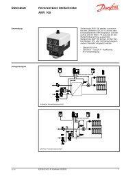 Datenblatt Reversierbare Stellantriebe AMV 100 - Danfoss