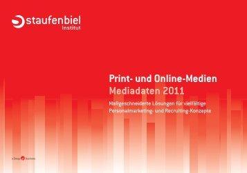 Print- und Online-Medien Mediadaten 2011 - Staufenbiel