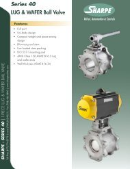 Series 40 LUG & WAFER Ball Valve - Sharpe® Valves