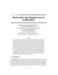 Reconnaître des langages avec un configurateur - Laurent Henocque