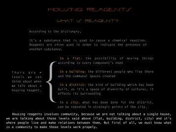 housing reagents - Oikodomos